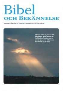 Bibel och Bekännelse 2007 nr 2