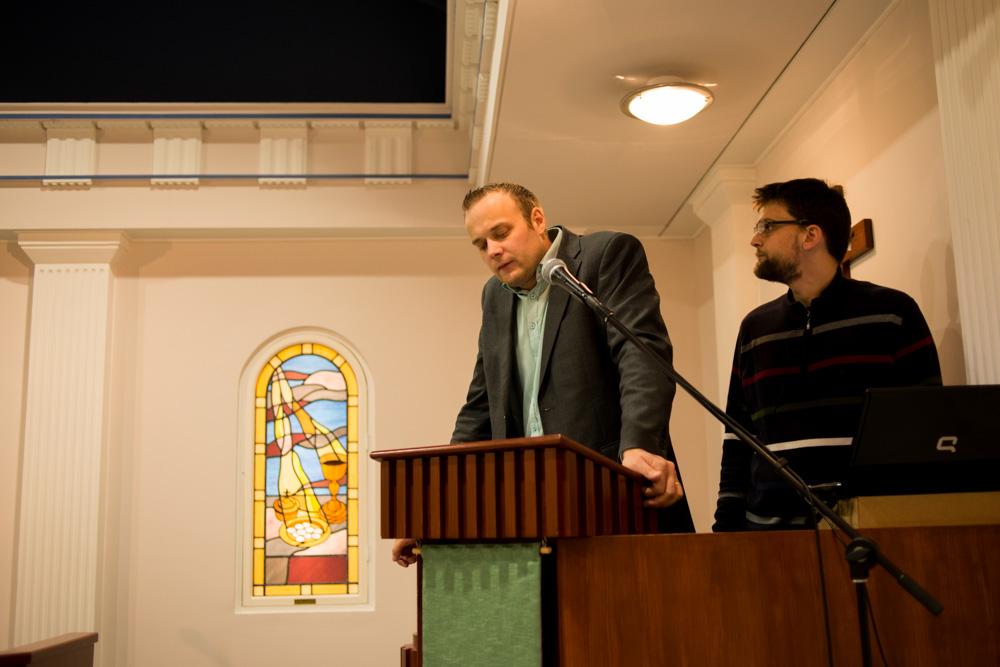 Hans Ahlskog och Jesper Hansen i Biblion, Vasa